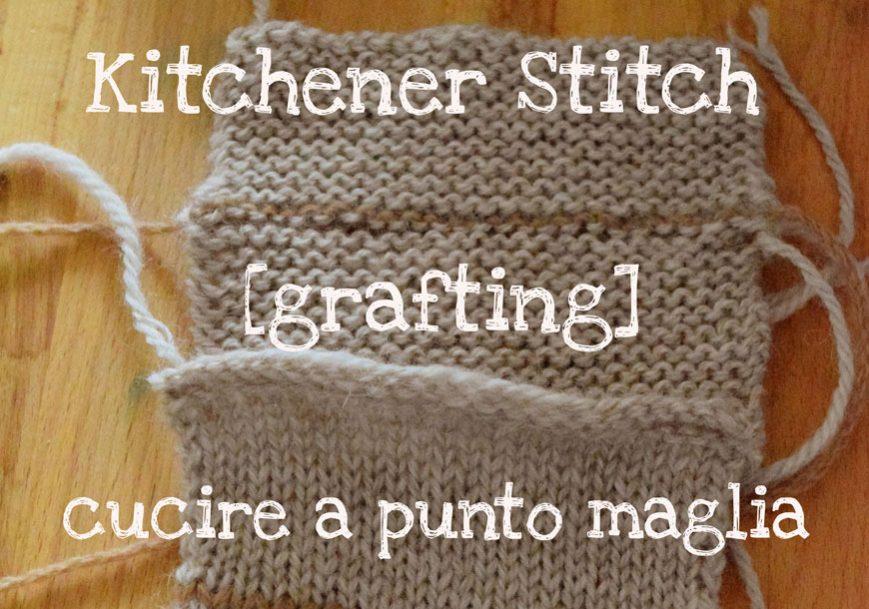 Kitchener stitch !